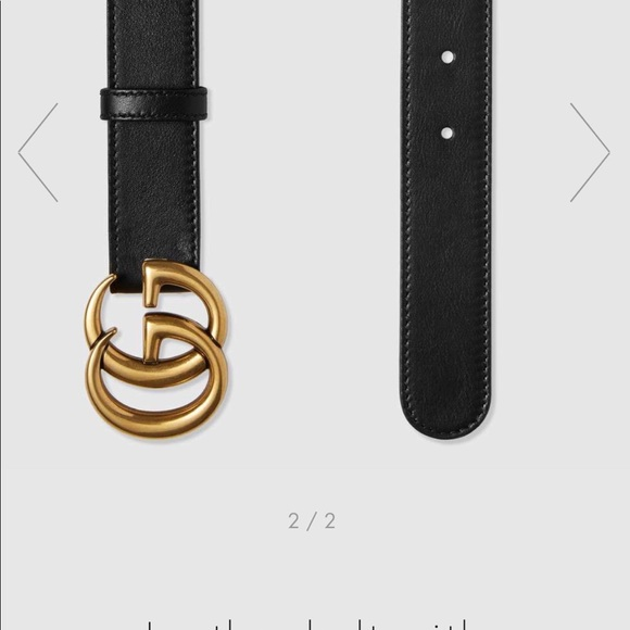 ef04171a2 Gucci Accessories | Authentic Leather Belt With Double G Buckle ...